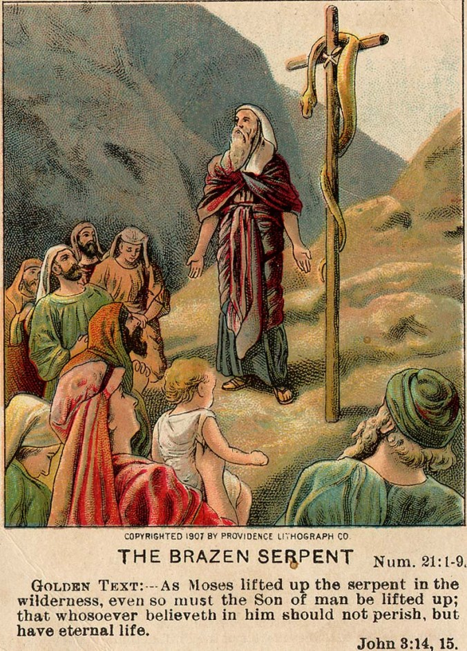 The_Brazen_Serpent_(Bible_card)