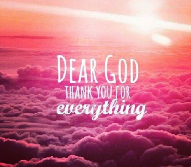 thank god everything