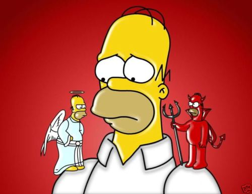 angel-devil-homer