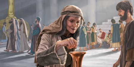 Image result for jesus poor woman offering