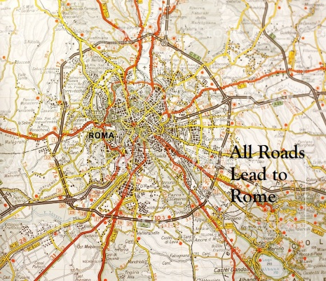 Rome map with its Great Ringroad.