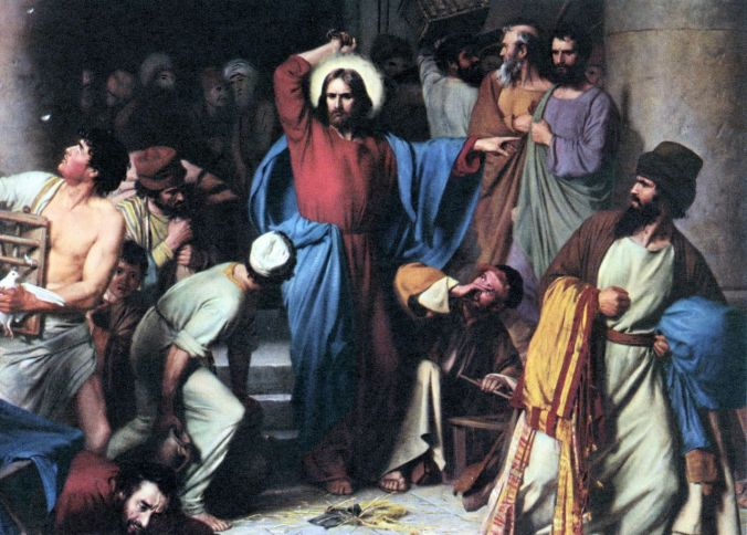 Jesus-clearing-the-money-lenders-